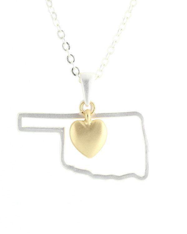 75 best oklahoma thunder images on pinterest oklahoma state oklahoma state pendant necklace jewelry cents of style 1 aloadofball Images