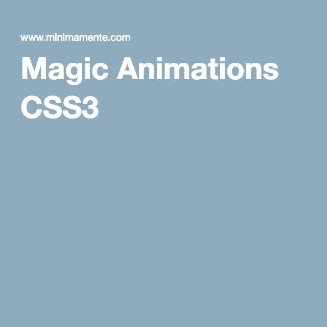 Magic Animations CSS3