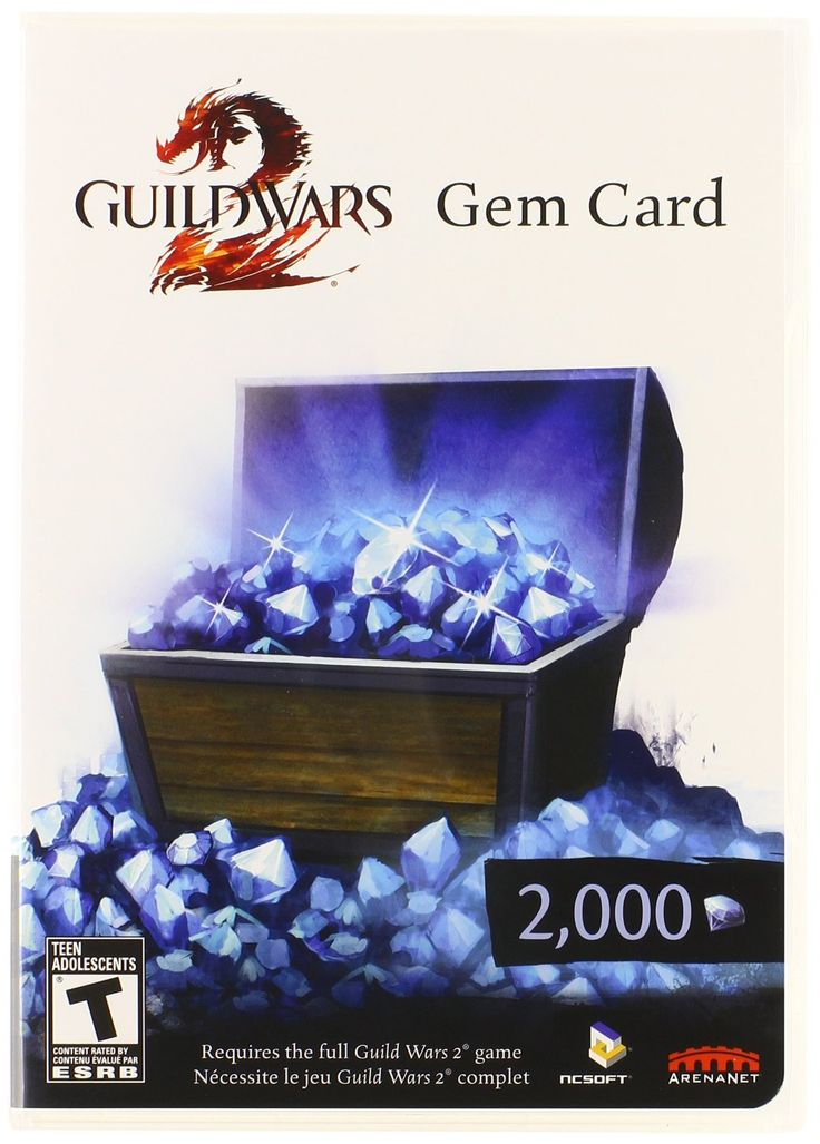 GW2 Gem Card Can be found in retail stores (like Target, Walmart, etc) or online on Amazon.com and eBay. $25.00