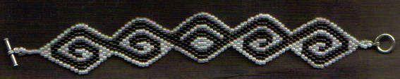 Brick Stitched Tattoo Bracelet  TUTORIAL