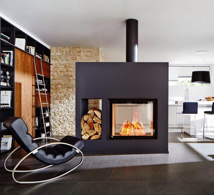 46 besten moderne kamine bilder auf pinterest innendesign offener kamin und einrichtung. Black Bedroom Furniture Sets. Home Design Ideas