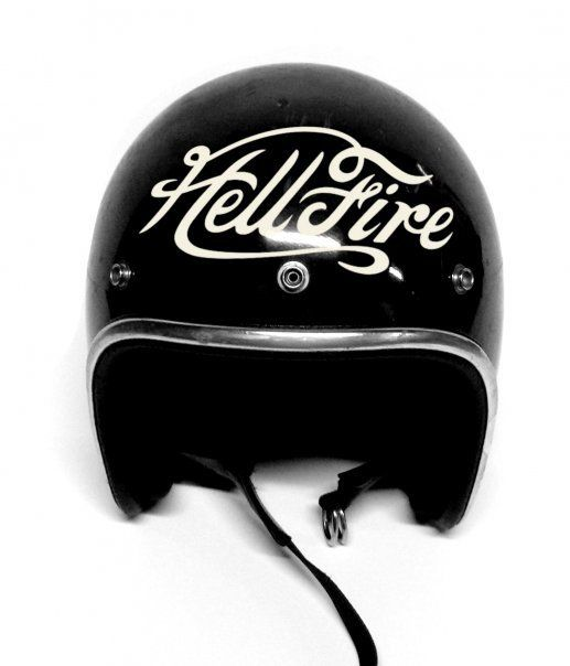 VINTAGE ARTHUR FULMER HELMET-HAND PAINTED HELL FIRE! « Amercian Love Machine Blog