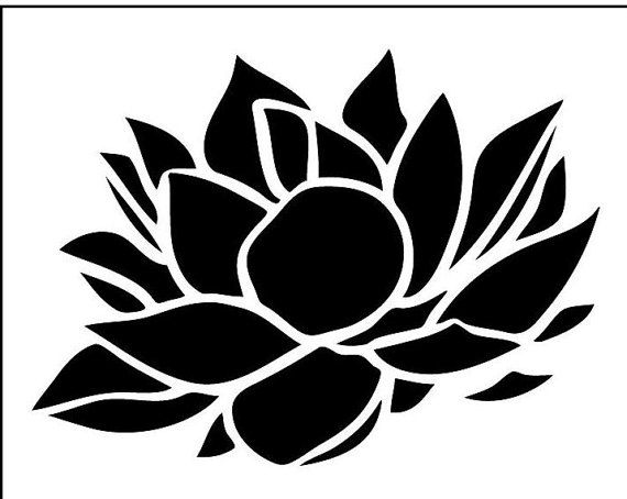 Lotus on Reusable Laser-Cut Stencil by PearlDesignStudio on Etsy
