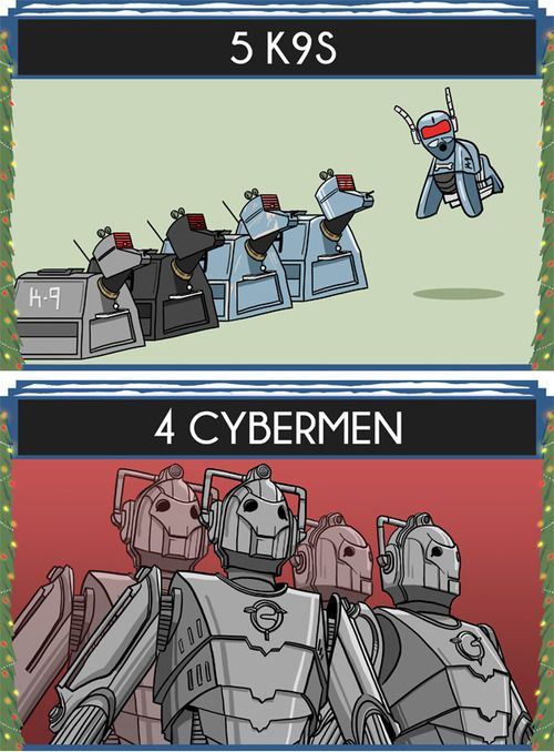 The 12 Days of Doctor Who: 5 K9s, 4 Cybermen