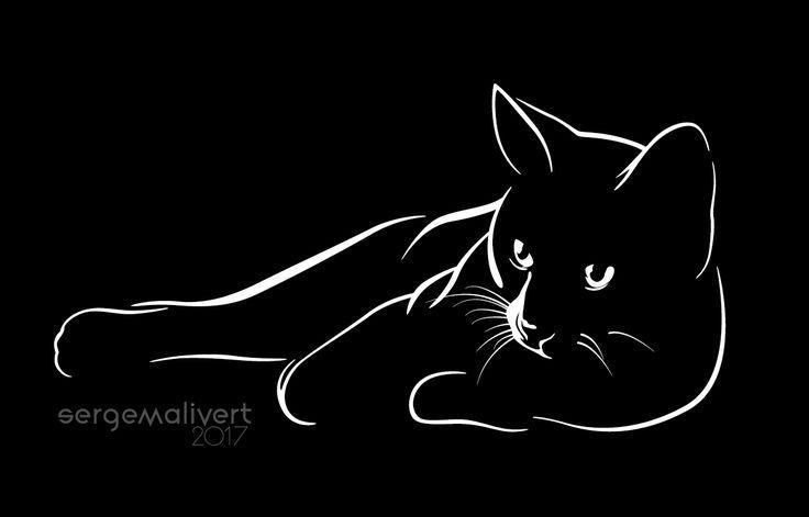 Schwarze Katze – Gülay Polat – # Gülay #Cat #Polat #Black – Schwarze Katze …   – Kunst