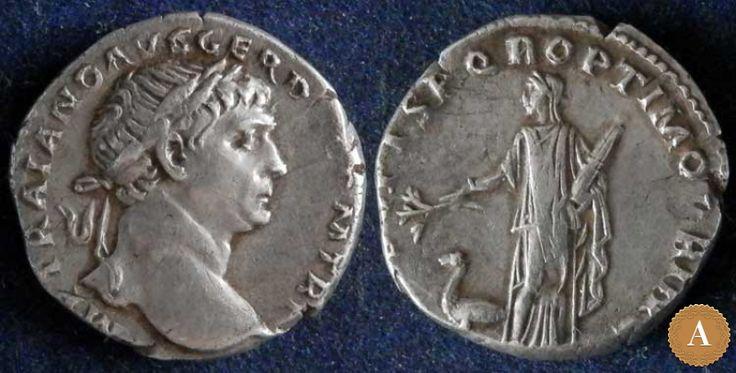 Римская империя, Траян, 98-117 годы, денарий. | ANDREY PYATYGIN ANCIENT COINS | Магазины | Антикварус