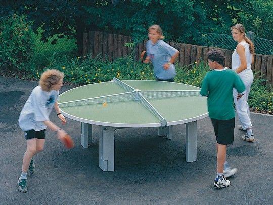 Kübler Sport® Tischtennistisch R 2000 Der Runde Tischtennistisch, Für Viele  Spieler Ein Toller
