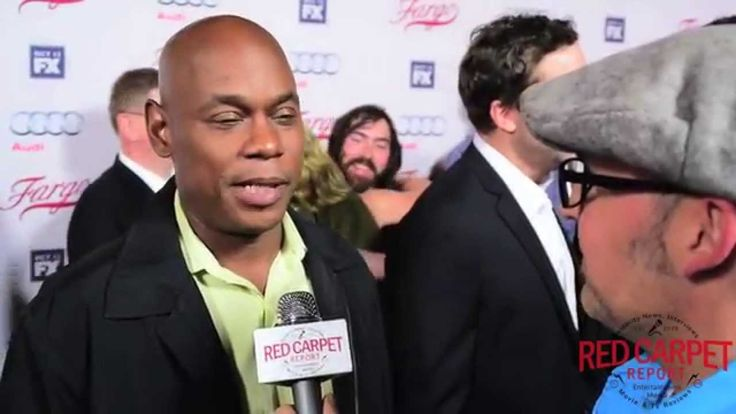 """#BokeemWoodbine """"Mike Milligan"""" talks to #RedCarpetReport about getting into character at FX's Fargo Red Carpet Premiere Event #FargoFX Bokeem Woodbine """"Mike Milligan"""" at FX's Fargo Red Carpet Premiere Event #FargoFX"""