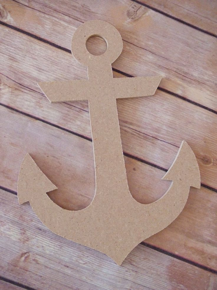 Anchor Decoration, Wood Anchor Decoration Great to decorate for a nautical party or wedding.