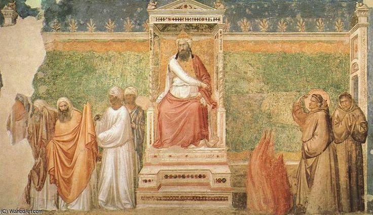 'Das Leben des Heiligen Franziskus. St Franziskus vor dem Sultan' von Giotto Di Bondone (1266-1337, Italy)