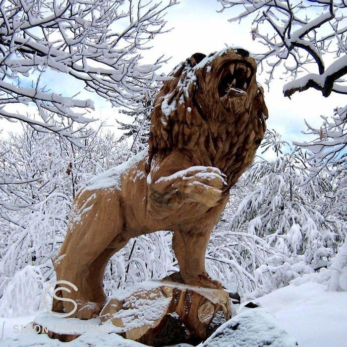 Лесная сказка: Удивительные скульптуры сделанные бензопилой (24фото) » Картины, художники, фотографы на Nevsepic