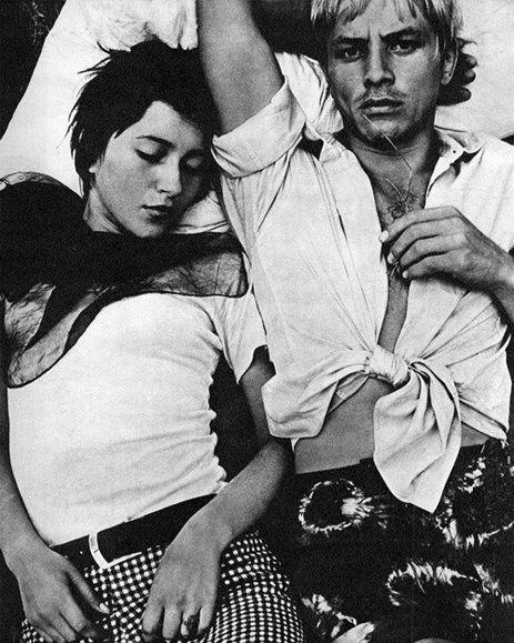 """Vitas Luckus.  Mimai Giedrius Mackevičius ir Nijolė Storyk. Molėtai, 1968 m. Iš ciklo """"Pantomima"""", 1968–1972 m."""