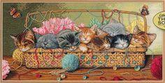 Gallery.ru / Фото #1 - chatons dans un panier - loryah