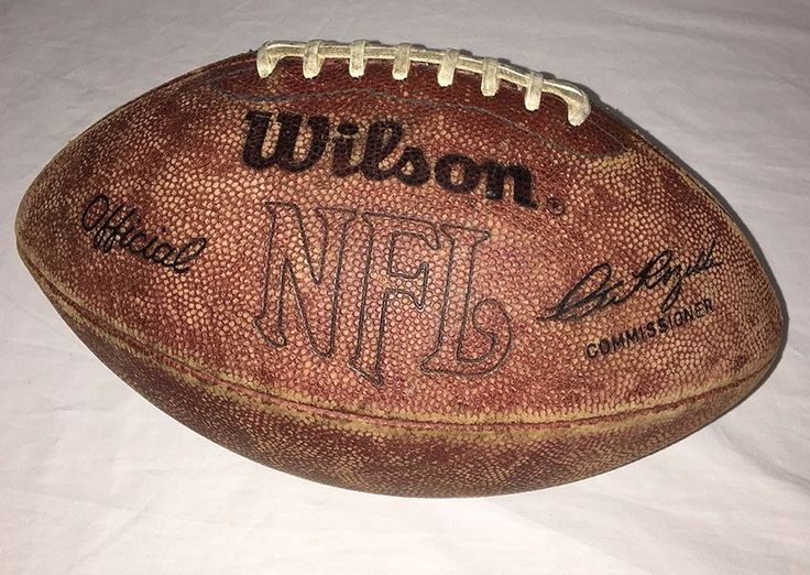 Vintage Official Wilson NFL AFC NFC Football Pete Rozelle Commissioner LACES