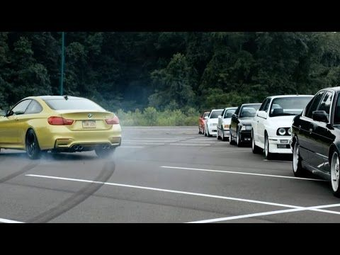 Watch the 2015 BMW M4 Coupe drift around other M models | Car Fanatics Blog