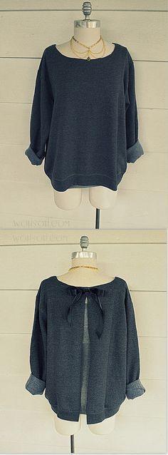 Sweatshirt #Refashion knockoff - EASY! from @L a Farme / Anne A. Hollabaugh aka. WobiSobi on BrassyApple.com #sewing #fashion