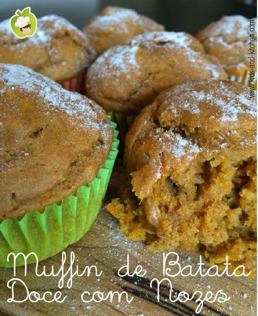Receitinha: Muffin de Batata Doce com Nozes