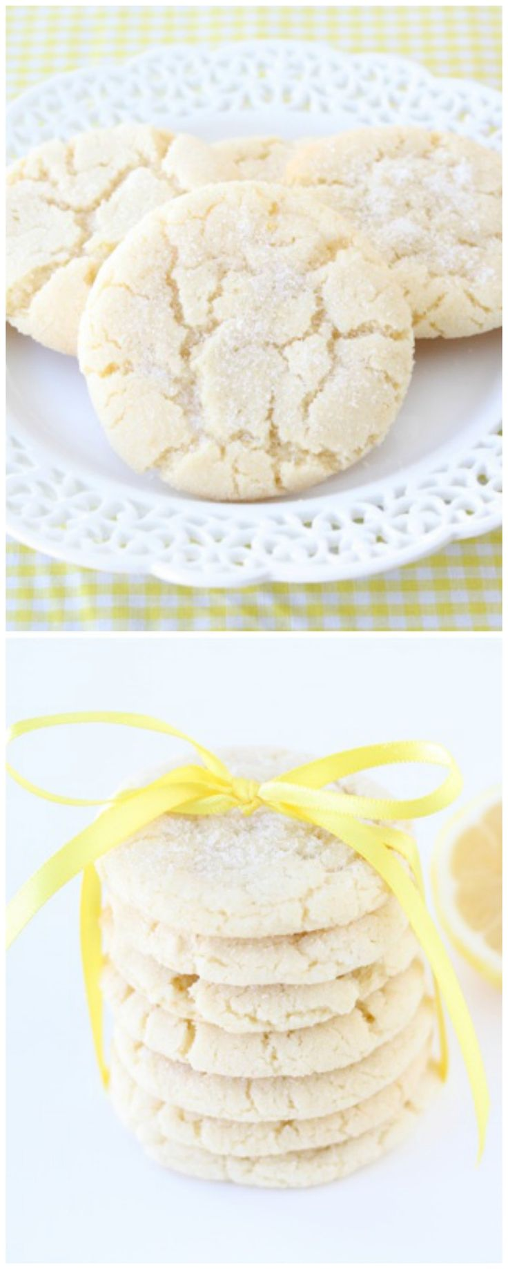 Lemon Sugar Cookies on twopeasandtheirpod.com The BEST sugar cookies!