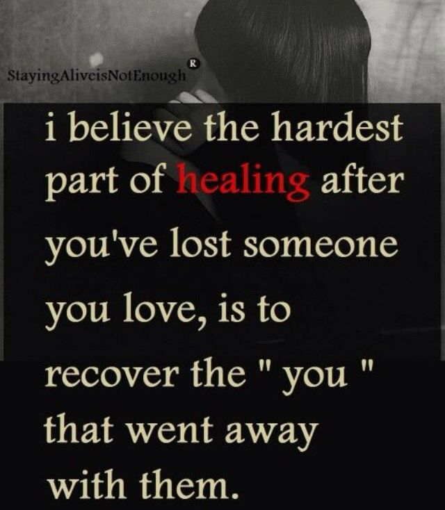Part of the pain of grieving.