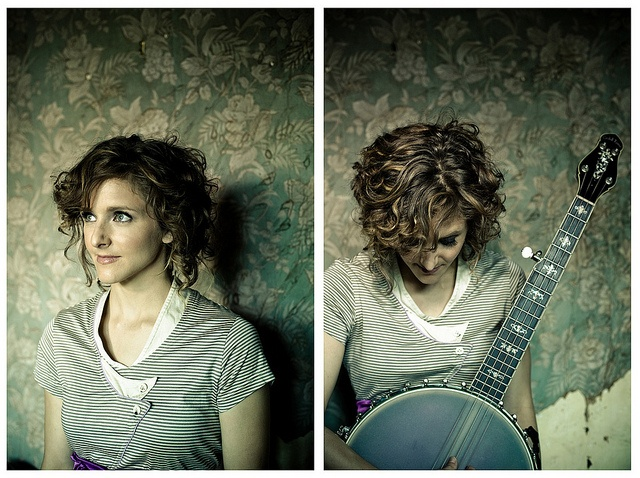abigail washburn not only plays and sings banjo amazingly herself but is married to a banjo playing legend- Bela Fleck!