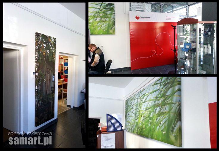 Wystrój wnętrza biura za pomocą banerów reklamowych