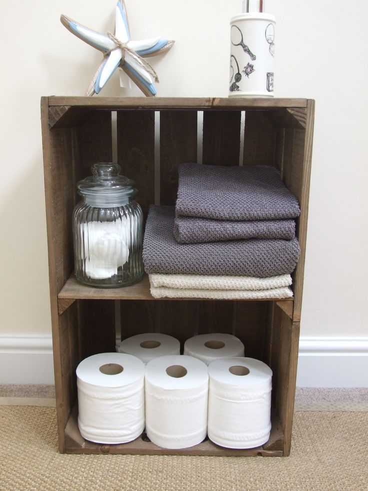 apple crate with short internal shelf makes an ideal display shelf for shops or farmers market traders or use it at home