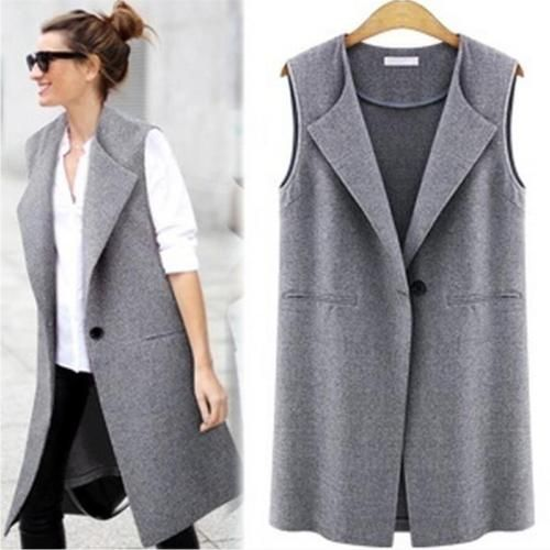 New Women Casual Sleeveless Long Duster Coat Jacket Cardigan Suit Vest Waistcoat https://t.co/ZmsmF1lUgy https://t.co/nGBbXIkFqp