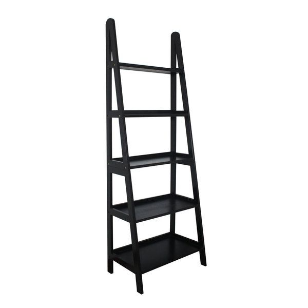 Mintra 5-tier A-frame Black Ladder Shelf - Overstock™ Shopping - Great Deals on Media/Bookshelves