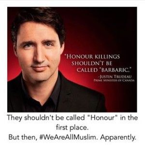 "You can thank useful idiot Prime Minister, Justin Trudeau, Canada's version of Angela Merkel, for demanding a virtual media blackout on Muslim terrorism incidents, ESPECIALLY by newly-arrived…[CANADA: Muslim refugees getting pepper-sprayed got three days of TV News headlines while Muslim refugees shooting up a Calgary nightclub got virtually no coverage].... WHEN THESE GOVERNMENT LEADERS SAY (AND THEY ALL DO) ""THIS ISN'T WHO WE ARE? "" - WHO THE HELL IS 'WE'? *JUST ASKING*"