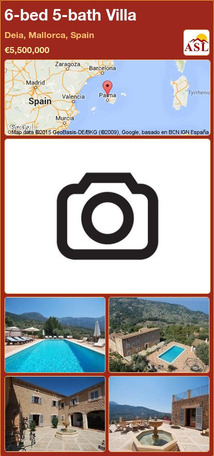 6-bed 5-bath Villa in Deia, Mallorca, Spain ►€5,500,000 #PropertyForSaleInSpain