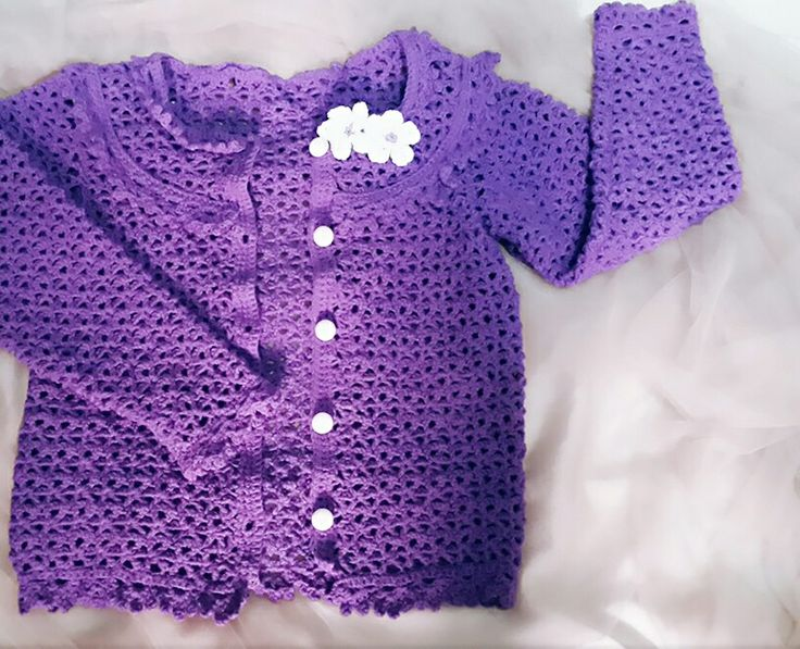 Crochet cardigan for little girl