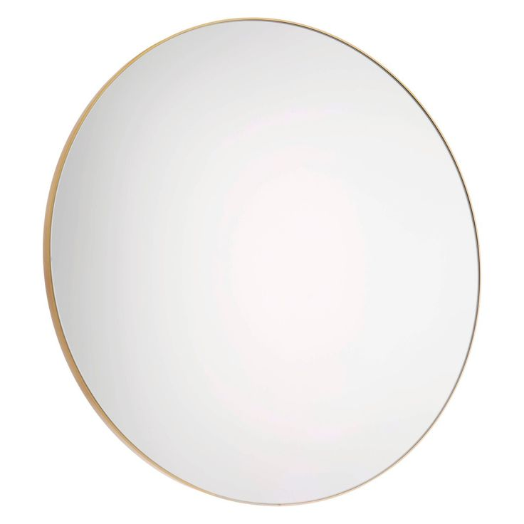 PATSY Large round gold wall mirror D82cm | Buy now at Habitat UK