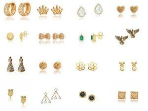 Anéis pequenos folheados a ouro, semi joias atacado para revender direto da fabrica.
