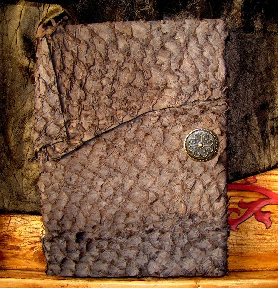 Chocolate Leather Journal by BuddhaWoodha on Etsy, $18.00