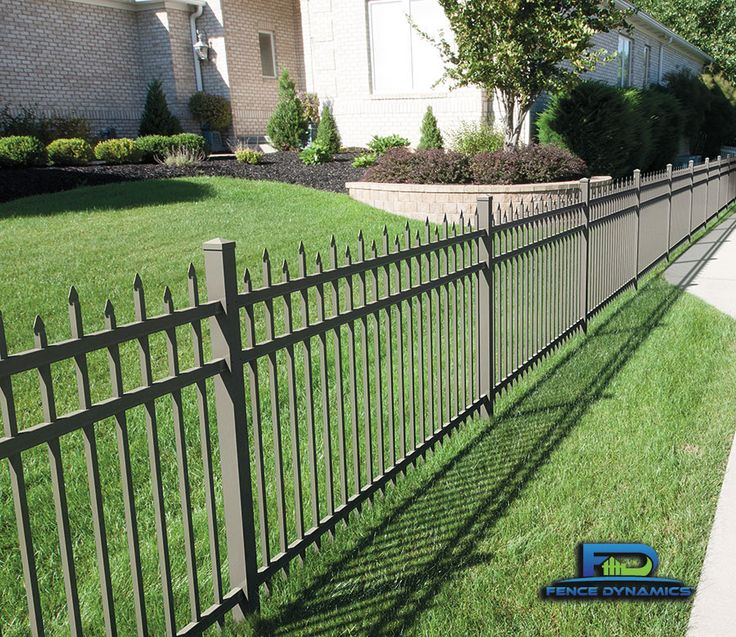 Aluminum security fencing doesn't just come in black. Check out this attractive pewter color available from Fence Dynamics with staggered pickets.  Give us a buzz at 941-697-4448 for a free estimate from Sarasota/Bradenton to Marco Island, or Orlando.