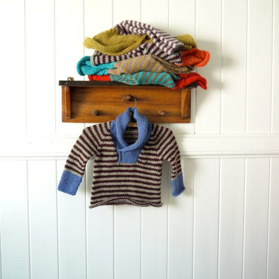 Boys Sweater - NEW - Size 1-2 years - natural wool - seamless raglan cut