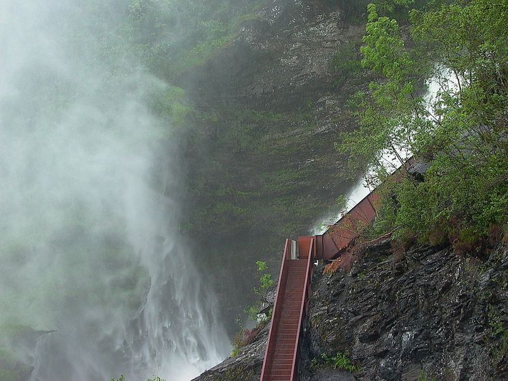 architecture norway | Hiking Path, Svandalsfossen