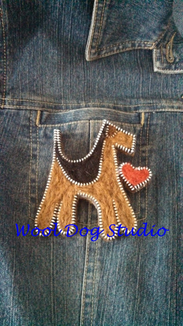 ORIGINAL PINNER SAYS: Airedale zipper pin.  A cool way to take your dog to work with you!