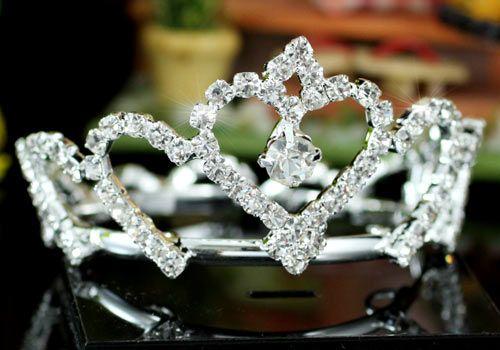 """Αξεσουάρ Μαλλιών :: Επάργυρη Μίνι Κορώνα Μαλλιών για Παρανυφάκι, Βαπτιση, Γάμο """"Glykeria"""" - http://www.memoirs.gr/"""