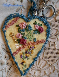 TO MAKE: Embroidery Scissors Keeper....all hand-done...I love it