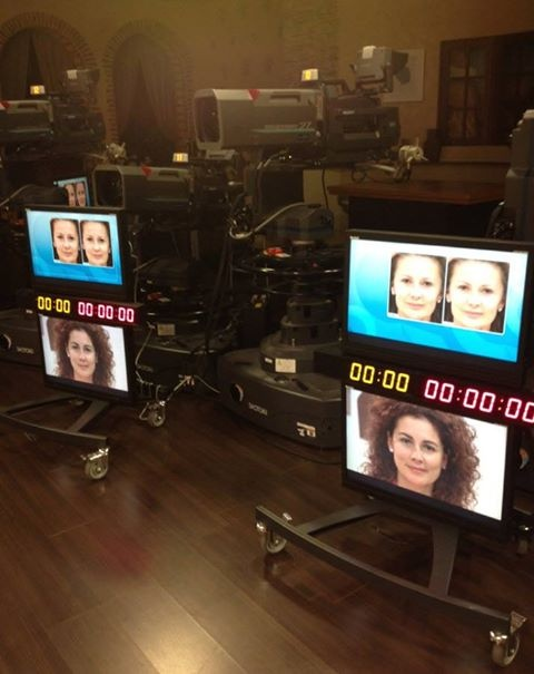 On the set at QVC Italy