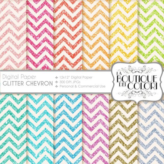 70% OFF Glitter chevron digital paper. Gold and silver glitter digital papers: scrapbooking, printables, cards, Commercial Use. pink, blue. green, yellow, red. Commercial Use  Ideal for party decorations, cards, banners, printing for scrapbooking, accessories, birthdays, textile, design and much more!  This set includes: 12 Chevron Glitter Background Digital Papers.