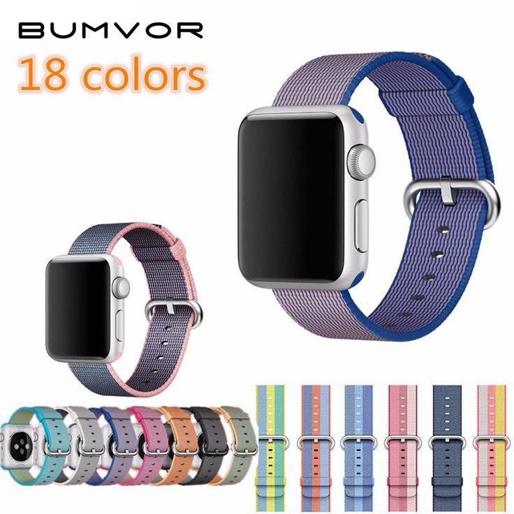 BUMVOR Sportowe tkaniny nylonowej watch band strap dla apple 42mm/38 wrist braclet pas tkaniny-jak nylon zespół na iwatch 3/2/1/Edycja