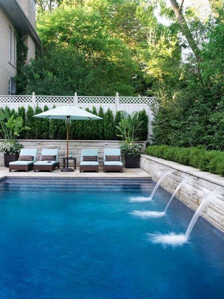 25 Good Small Swimming Pool Ideas For Your Backyard Swimming Pools Backyard Backyard Pool Landscaping Pool Landscape Design