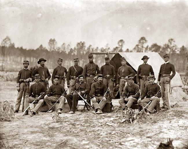 3rd Indiana Cavalry -  Petersburg, Virginia Detachment of 3rd Indiana Cavalry. It was made in 1864.    The photo documents main eastern theater of war, the siege of Petersburg, June 1864-April 1865.