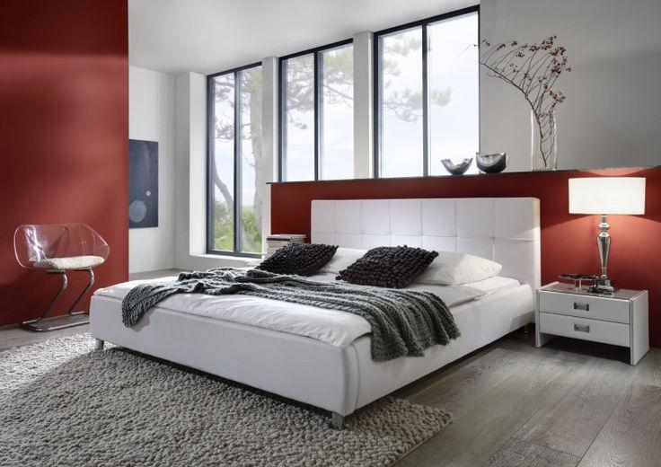 Designbett Zarah in Weiß Ausführung: 140 cm x 200 cm; Exklusives Design BettKurze Information:Bett Zarah Farbe: weiß Ausführung: SAM® -