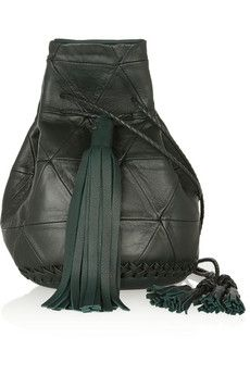 WENDY NICHOL Bullet patchwork leather bucket bag