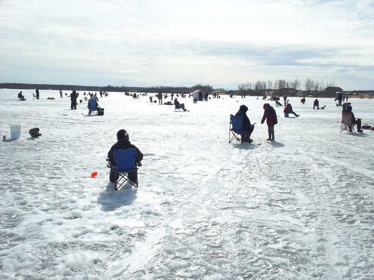 Ice Fishing Derby on Lucien Lake. lucienlake