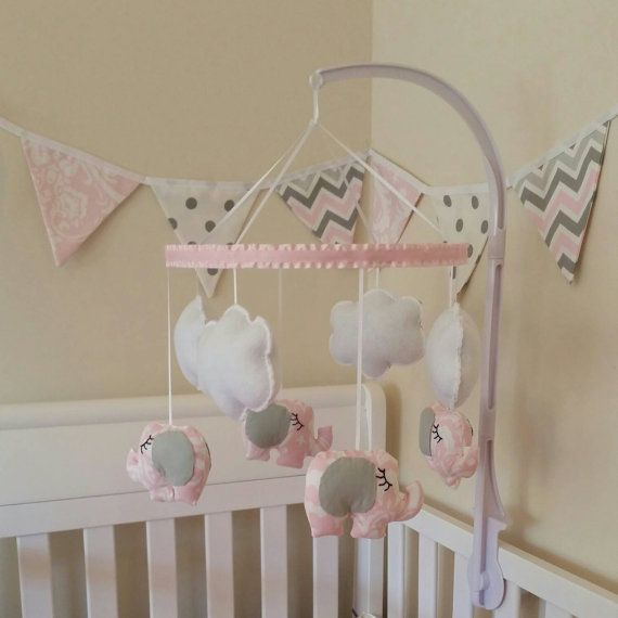Ansley  Nursery Mobile-Crib Mobile Baby Girl by GraceAnnBaby