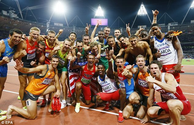 Awesome display of camaraderie and sportsmanship between the greatest athletes at the Olympics: the decathlon.